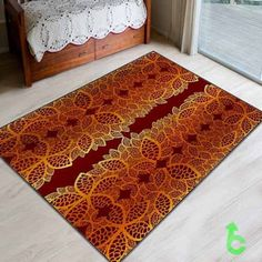 #golden #leaves #red #surface #Blanket #quilt #throws #bedroom #woman #giftidea #present