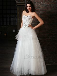 VILAVI Precious Ball Gown Tulle Sweetheart Floor-length Beading Wedding Dresses, Wedding Dresses, Bridal Dresses, bridal Wedding Dresses