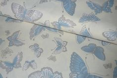 Textil - Látka Belasý motýľ - 6958564_
