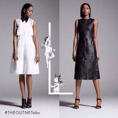 """L is for leather vs. lace! Which do you prefer? #THEOUTNETabc #LeathervsLace #SeeItShopIt"""
