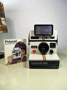 Polaroid Camera, Vintage Camera, Camera Polaroid Land Camera 1000, Camera SX70 with Flash Polatronic 1 instruction manual, Iconic Camera 70s