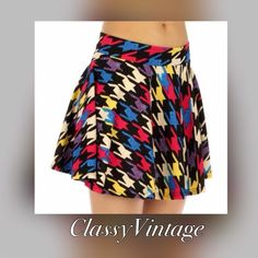 Spotted while shopping on Poshmark: Fun houndstooth print skirt.! #poshmark #fashion #shopping #style #Boutique #Dresses & Skirts