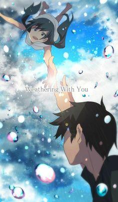 The Background of Anime - # Hina Amano From Tenki no Ko # Art Anime, Anime Art Girl, Manga Anime, Makoto Shinkai Movies, Your Name Anime, Japanese Animated Movies, Cute Anime Wallpaper, Anime Scenery, Animes Wallpapers