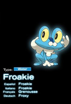 Froakie- the Water-type starter from Pokemon x Pokemon Website, Pokemon X And Y, Pokemon Gijinka, Water Type, Catch Em All, Anime Characters, Club, Manga, Box