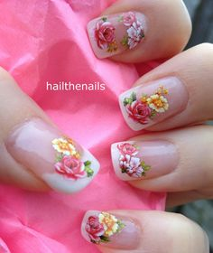 These could be cute?? Nail WRAPS Nail Art Water Transfers Decals  French by Hailthenails, £1.99