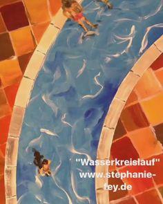 """Stephanie Fey on Twitter: """"Wasserkreislauf. Acryl/Pigmente auf Holz. 82x82 cm. Mein neuestes Werk, in dem ich Abstraktion und Figuratives vereine. https://t.co/0jcQ4c6an3"""""""