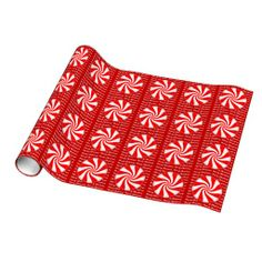 Christmas Peppermints Gift Wrap Paper