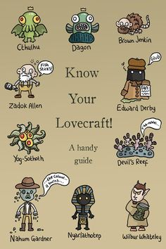 Squid Bits!: August 2010 KNOW YOUR LOVECRAFT