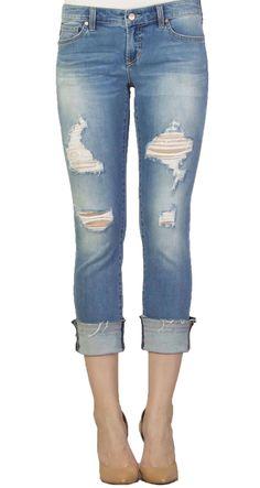 888209ee42a56 Dear John Playback Cuffed Montauk Cropped Straight Leg Jeans
