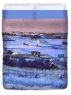 David Bridburg Duvet Cover featuring the digital art Inv Blend 18 Van Gogh by David Bridburg