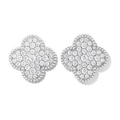 Magic Alhambra earrings (€23.170) ❤ liked on Polyvore featuring jewelry, earrings, earrings jewelry, white gold jewellery, white gold jewelry and white gold earrings