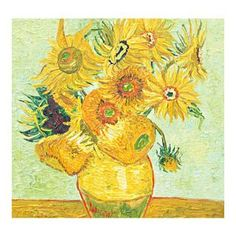 $109 Real Handmade Sunflower by Van Gogh Oil Painting  For more of Van Gogh's Oil paintings, Please visit http://www.painting-in-oil.com/artworks-Gogh-Vincent-van.html