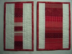 red and white vertical & horizontal