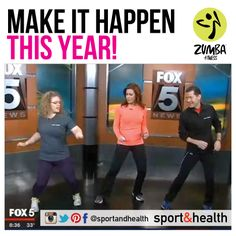 Need some motivation? Elizabeth Thackery lost 110 pounds in 2013 with the help of Zumba Fitness at Sport&Health. (And she's now an instructor for us at North Frederick Sport&Health!) And best of all, she got our VP of Fitness, Mitch Batkin, to join in the Zumba fun on live TV at the Fox 5 studios. Find more member success stories at http://www.sportandhealth.com/connect