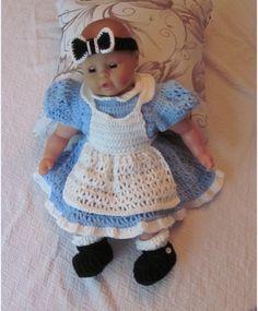 Alice in Wonderland inspired dress set. Crochet by MagicalStrings, $75.00