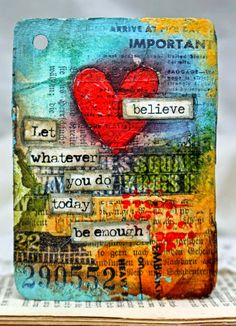 Great idea for a mixed media art journal. With collage and paint effects. Art Du Collage, Mixed Media Collage, Mixed Media Canvas, Heart Collage, Mixed Media Journal, Kunstjournal Inspiration, Art Journal Inspiration, Journal Ideas, Mix Media