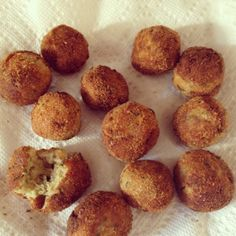 Polpette di Melanzane – fried eggplant balls flavored with Parmigiano and basil