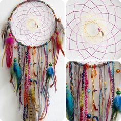 Dreamcatcher, making one...pinning ideas...sorry guys!