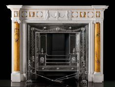 A very fine and perfectly proportioned Statuary and Sienna marble chimneypiece in the manner of James Wyatt 1746 - 1813, architect to King George III.