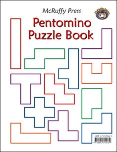 A pentomino set includes 12 different shapes, each made up of varying arrangements of 5 squares. This puzzle book contains over 75 puzzles in 9 categories Logic Games, Logic Puzzles, Math Games, Tangram Puzzles, Montessori Math, Homeschool Math, Math Work, Fun Math, Toddler Learning Activities