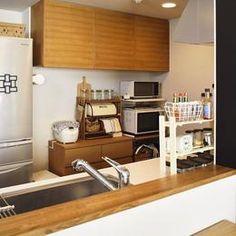ちょこっとリノベで理想のデザインと素材感を実現の部屋 キッチン収納
