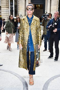 Giovanna Battaglia is seen arriving at Valentino Fashion show during Paris Fashion Week Spring/Summer 2017 on October 2 2016 in Paris France