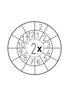 Tablas de multiplicar de bolsillo 6-10 listas para colorear recortar y trabajar -Orientacion Andujar