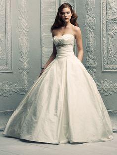 Ball Gown Sweetheart Taffeta Sweep Train Ruched Wedding Dresses Shop uk