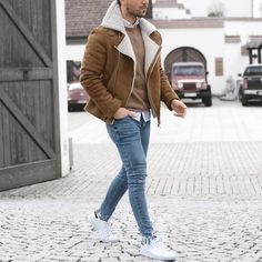 Shearling and sneakers by @malikarakurt [ http://ift.tt/1f8LY65 ]