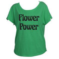 Flower Power Womens Off Shoulder Shirt