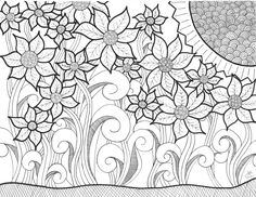 An original artwork by Cat Magness Quilling Patterns, Zentangle Patterns, Zentangles, Flower Coloring Pages, Coloring Book Pages, Doodle Drawings, Doodle Art, Art Nouveau, Floral Drawing