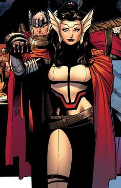 Lady Sif and Thor by Olivier Coipel
