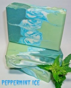Shea & Cocoa Butter Silk Soap  Peppermint by MountainScentament, $5.00