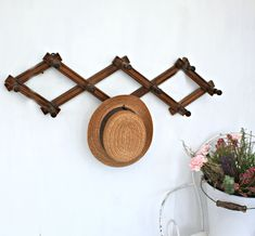 French Vintage Wooden Coat and Hat Hooks, Set of ten wall mounted vintage hooks Farmhouse Chic, Vintage Farmhouse, Peg Hooks, Vintage Hooks, Lovely Shop, French Vintage, Rustic Decor, Wall Mount, Vintage Inspired