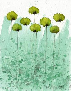 Watercolor Flowers and Artwork by Jennifer Comstock - Esty - Prints available