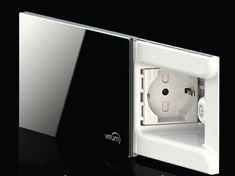 Hideaway power socket cover plate VITRUM PRESA by VITRUM by Think Simple