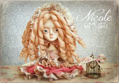NICOLE, LOST SISTERS Ooak Collectible Art Doll By Odd Princess.