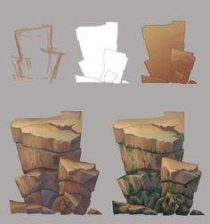 Stone1, Elizaveta Z on ArtStation at https://www.artstation.com/artwork/RNqPv