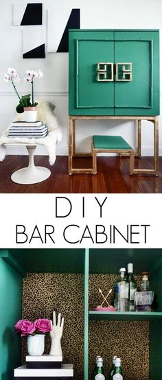 Full Tutorial on how to build this DIY bar cabinet: Worlds Away Anna Bar Cabinet via Bliss at Home