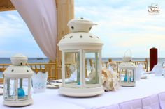 White decoration! #wedding #white #centerpiece #candle #decoration #weddingwednesday #GrandSolmarResort #SolmarWeddings #SolmarResorts