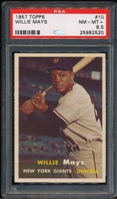 AdoreWe - SportsMemorabilia.com Willie Mays 1957 Topps Baseball Card #10 Psa 8.5 *high-end* - AdoreWe.com