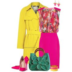 """""""Burst of Colors"""" by spherus on Polyvore"""