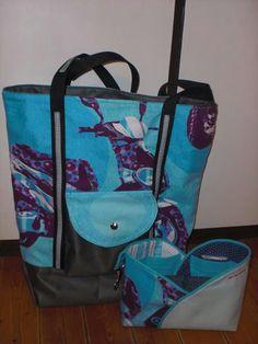Taschenset aus Shopper nach der Handmadekultur und Taschenorganizer von Farbenmix