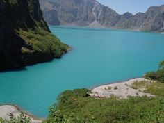Inside Mount Pinatubo near Angeles City Philippines  #mountpinatubo #volcanos #philippines