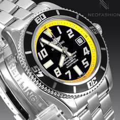 BREITLING+SUPEROCEAN+ABYSS+42MM+STUNNING+BLACK+DIAL+DIVERS+MENS+WATCH+A17364+#Breitling+#Diver