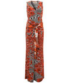 Modern love red abstract print v neck maxi dress modern love 163 535 00