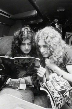 Jimmy and Robert.... and Creem magazine!  Interesting how they are pouring over it.  Wonder if the article was about them!