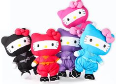 Hello Kitty Ninja Plushes \^o^/