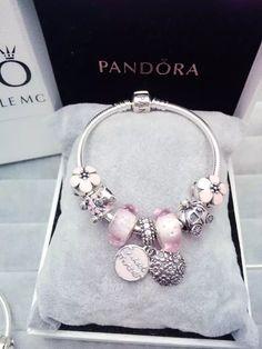50% OFF!!! $199 Pandora Charm Bracelet Pink. Hot Sale!!! SKU: CB01581 - PANDORA Bracelet Ideas