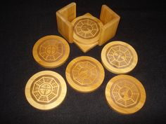 DHARMA LOST Coaster Set - Set of 6.   Great gift for fans of the Lost TV Show. Men, Women, Teenagers